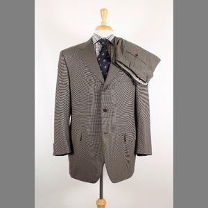 Canali 44R 38x29 Pleat Brown Suit B091